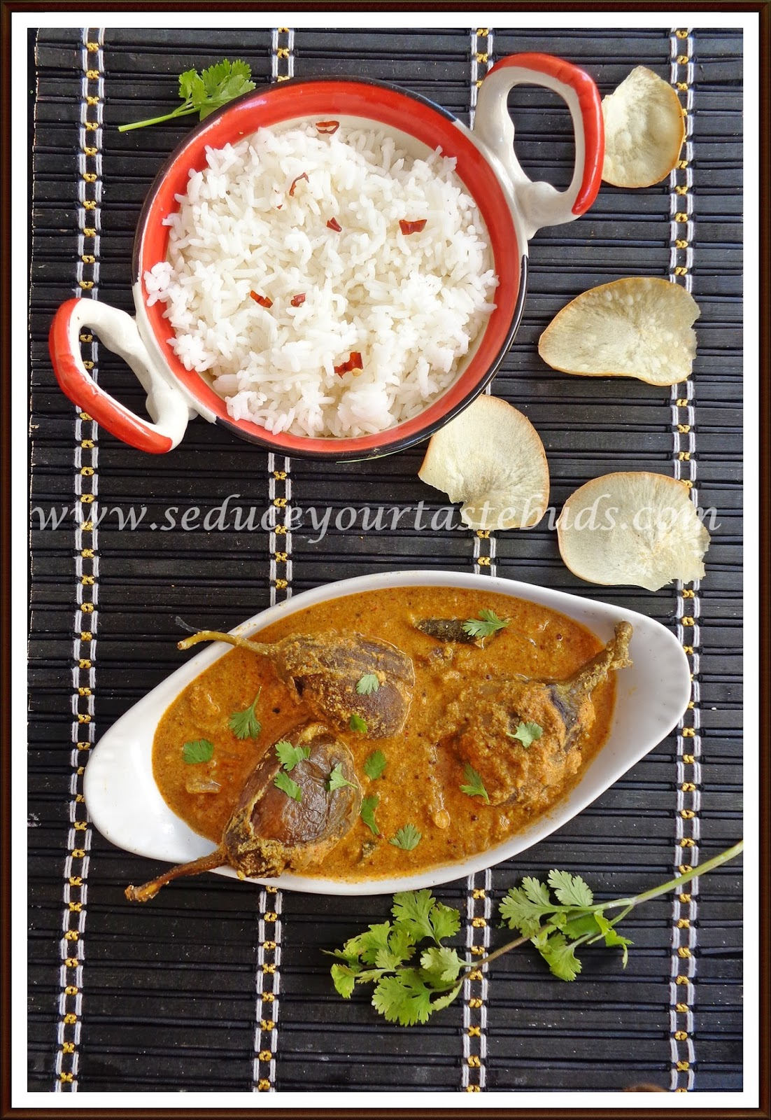 Stuffed baby brinjal curry seduce your tastebuds i adapted this dish from nalinis blog and it was served when my nephew stayed with us for a couple of days last summerhe is one of the few who forumfinder Gallery
