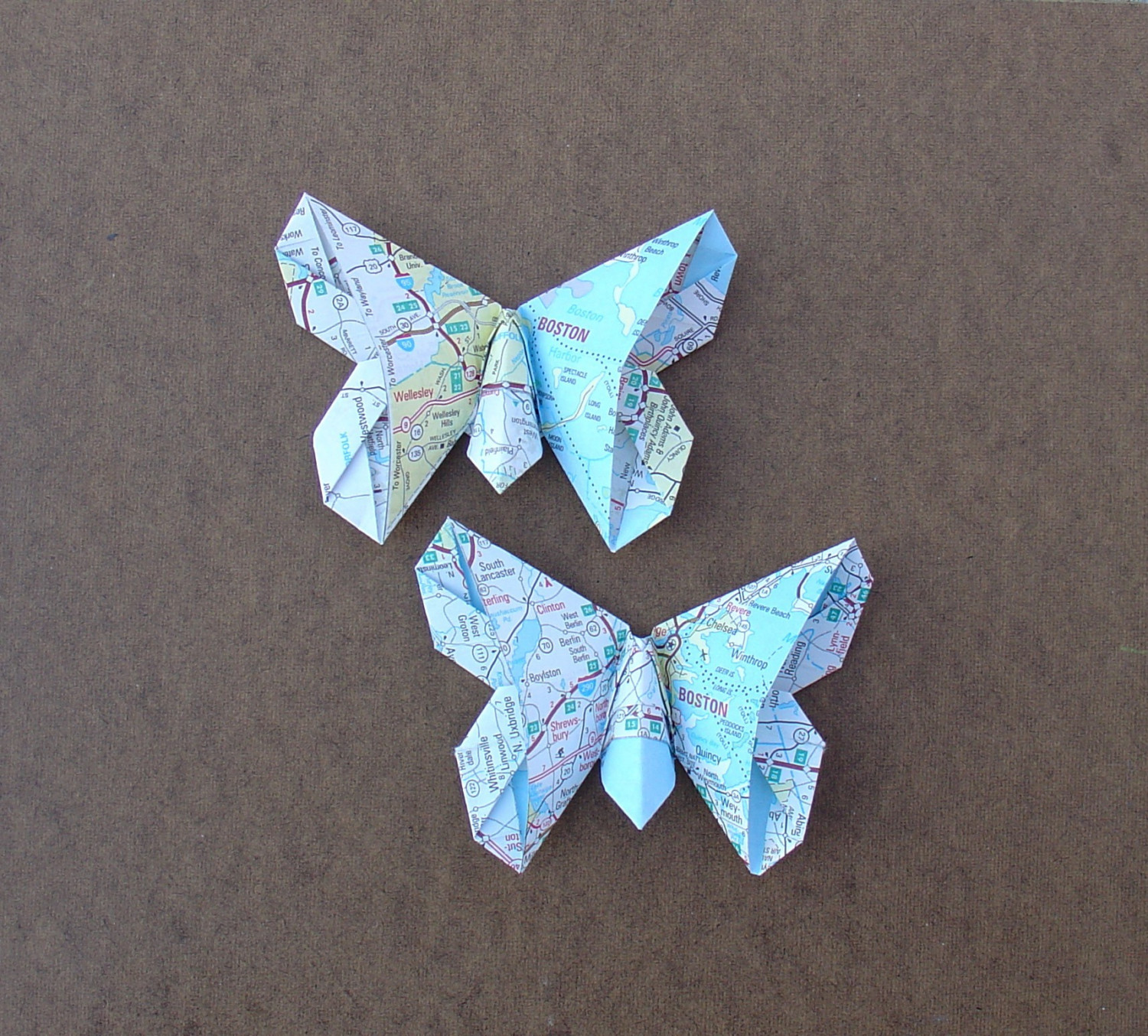 butterfly, create from a map