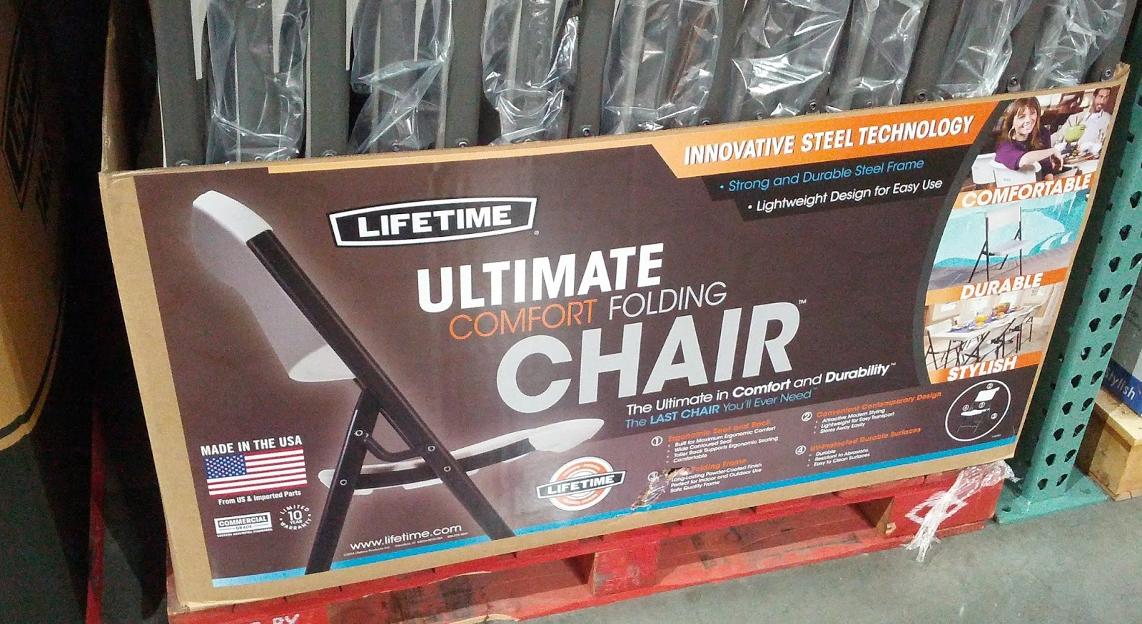 Lifetime Products Ultimate Comfort Folding Chair Model