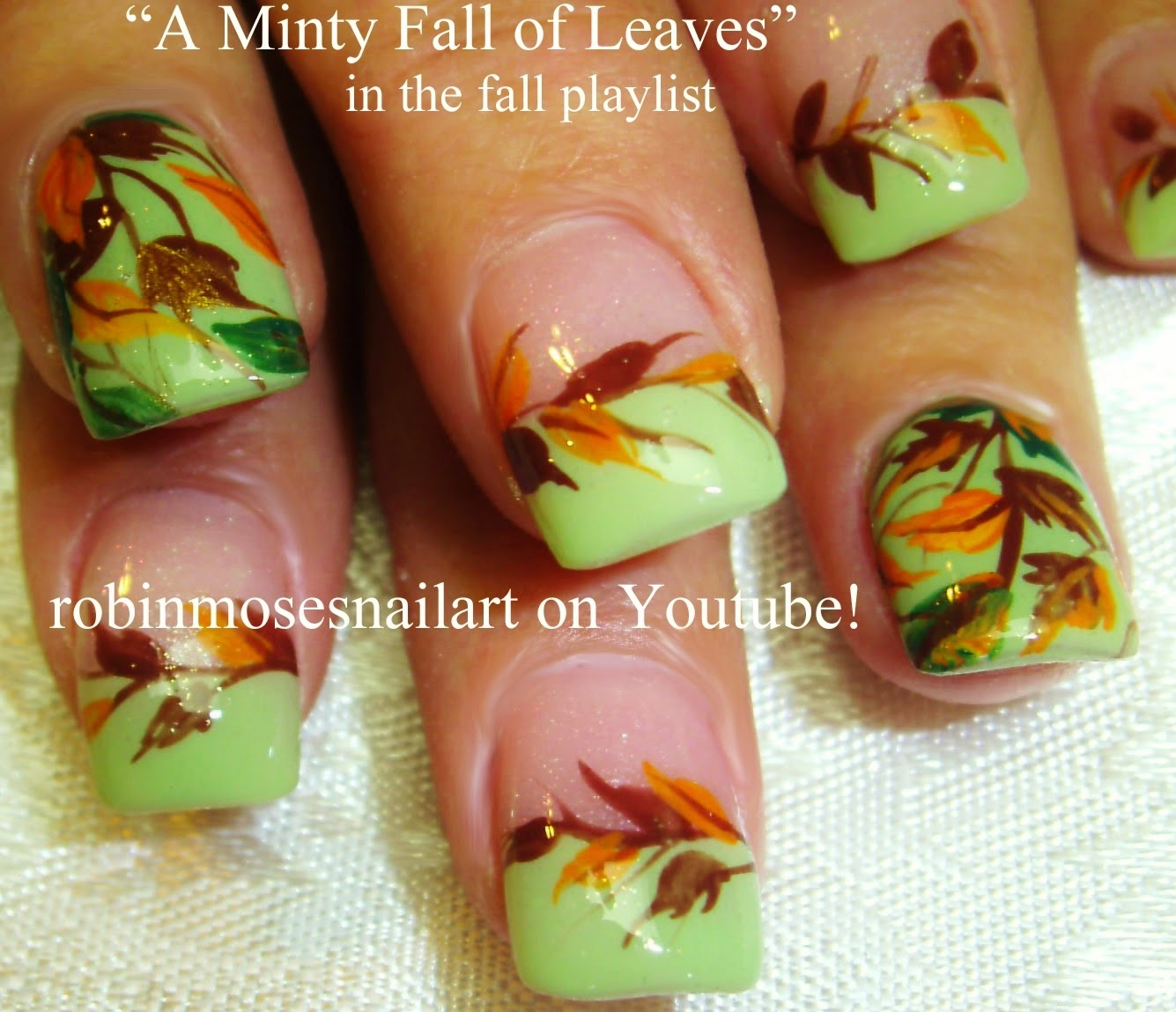nail art by robin moses fall nails autumn nails nail art
