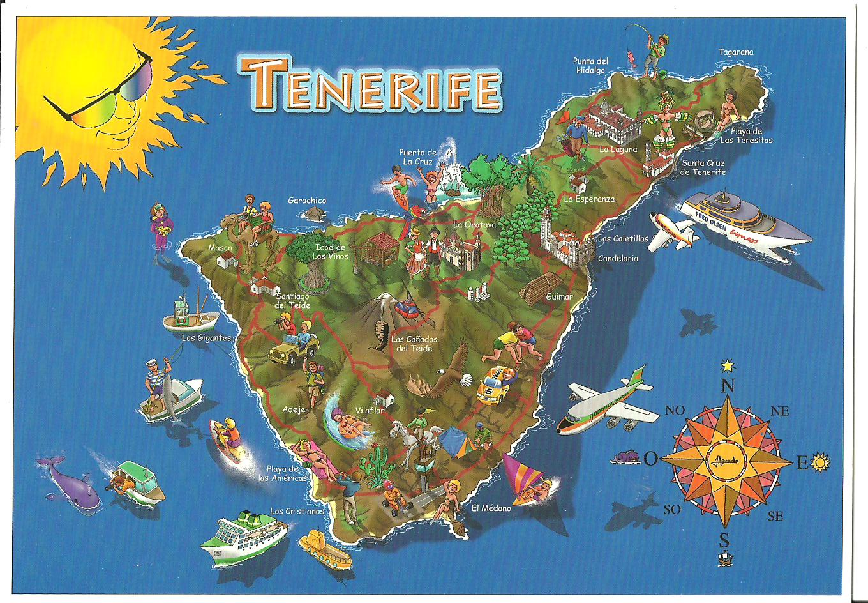 Resultado de imagen de mapa turistico de tenerife