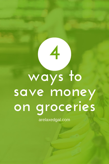 I can save 20-30% on my grocery trips. Check out these four ways that you can save money on your groceries. | arelaxedgal.com