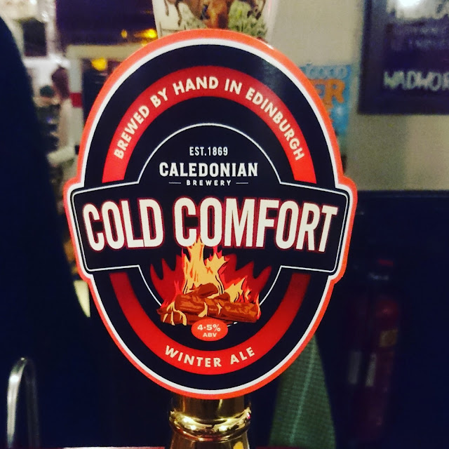 Cold Comfort from Caledonian Brewery craft beer real ale review pump clip