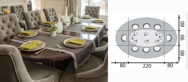 stół owalny