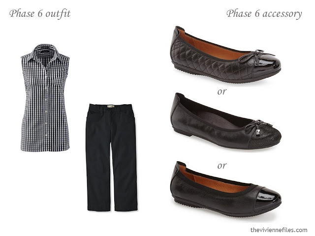 three choices of ballet flats to wear with a simple summer outfit