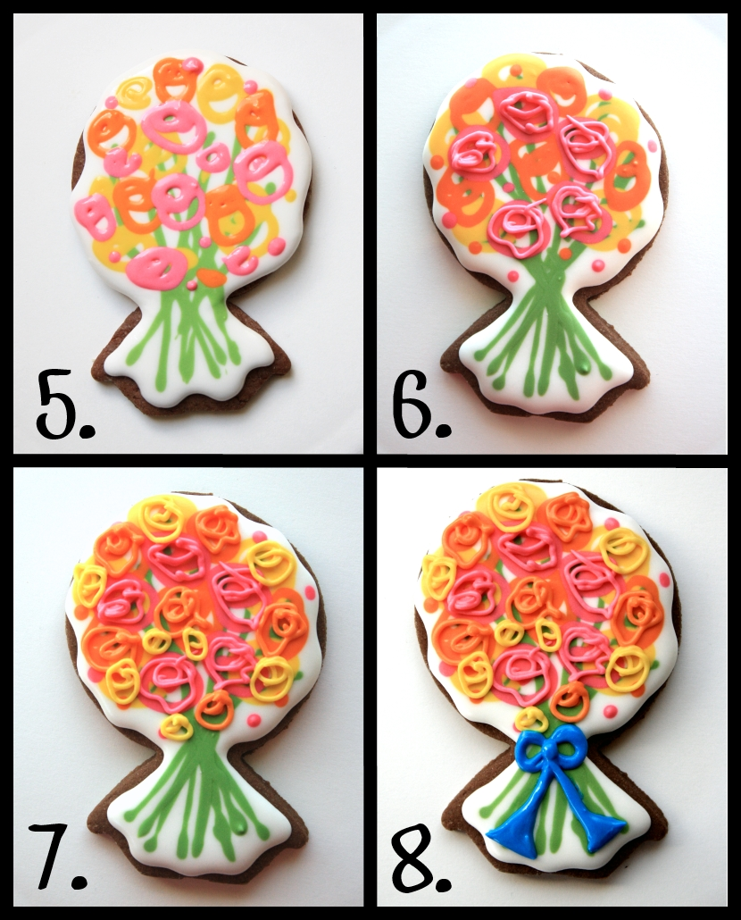 Flower Bouquet Cookies -- How To   LilaLoa: Flower Bouquet Cookies ...