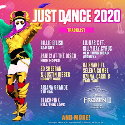 Just Dance 2020 Game Tracklist