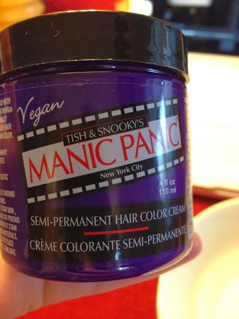 DIY: Purple Dip-Dye Hair