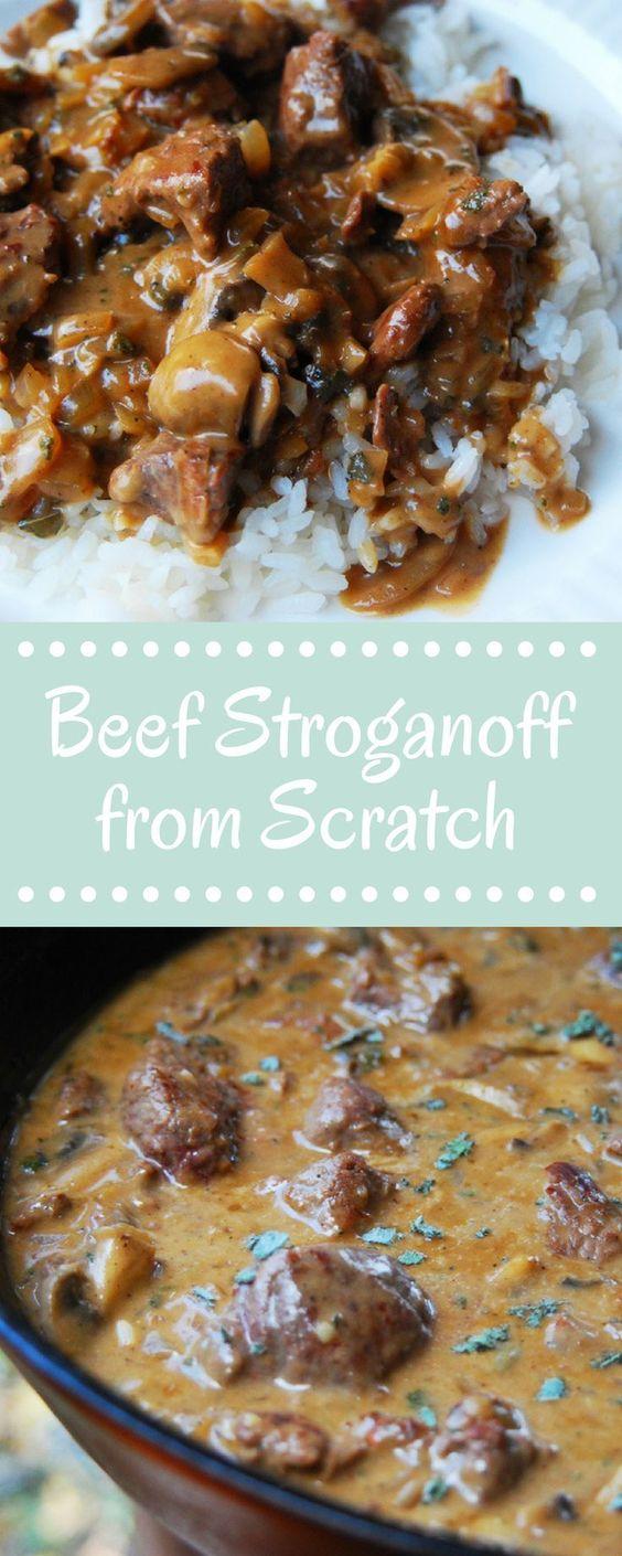 Homemade Easy Beef Stroganoff #american #maincourse #easy #beef #stroganoff