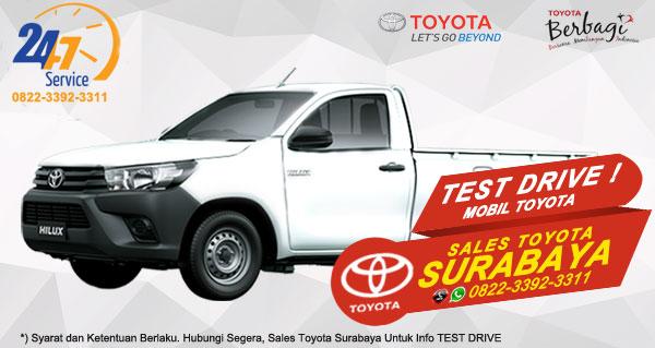 Info Test Drive Toyota Hilux S-Cab Surabaya