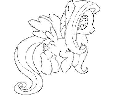 fluttershy coloring pages to print - photo#26