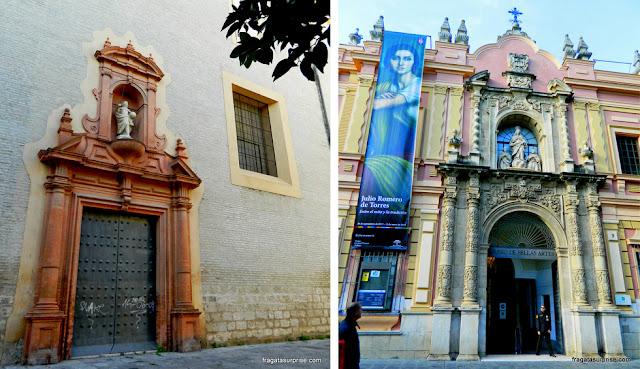 Fachada lateral e entrada principal do Museu de Belas Artes de Sevilha