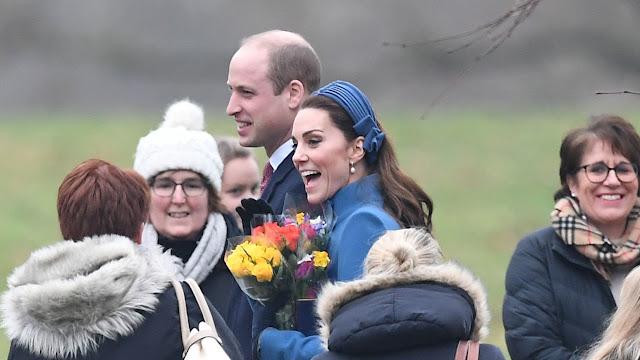 Kate i William na nabożeństwie w Sandringham