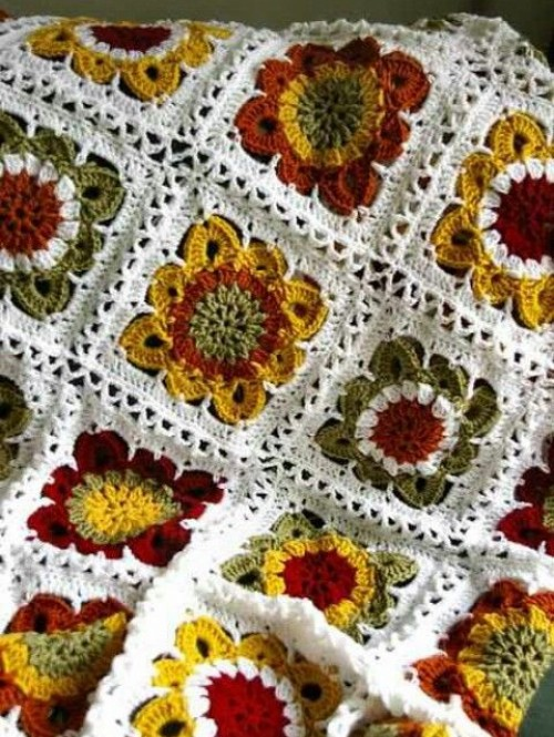 Sunflowers Crochet Blanket - Free Pattern