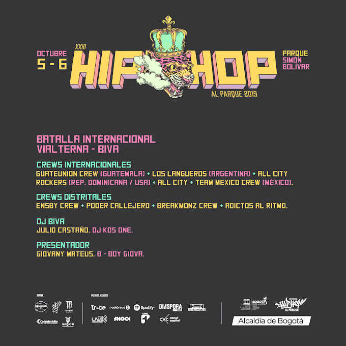 Crews de Break dance que se presentaran en  «Hip Hop Al Parque 2019»