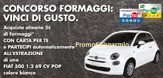 Logo Concorso Formaggi e vinci una Fiat 500