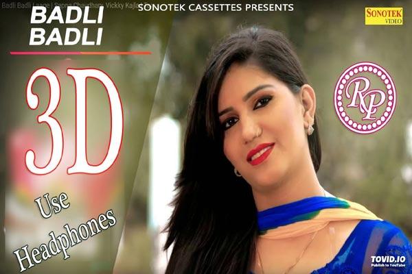 Badli Badli Laage Sapna Choudhary Vicky Kajla 3d Version Www