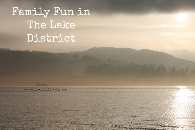 family fun in the lake district - windermere lake at sunset