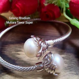Suplier Gelang Rhodium Mutiara Lombok Asli
