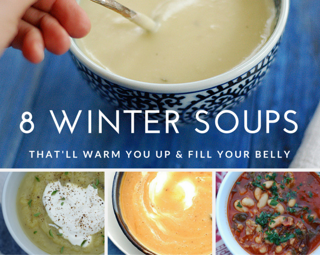 8 warm & delicious winter soups from the Garden of Eating blog