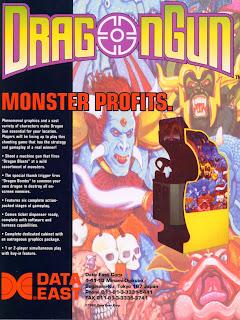 Dragon Gun+arcade+game+portable+retro+rail shooter+art+flyer