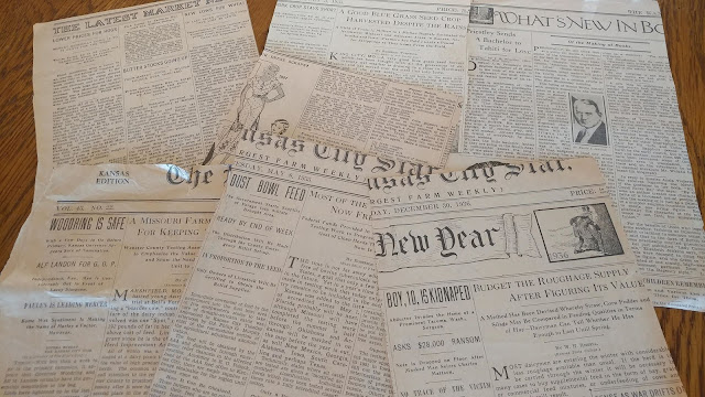 Kansas City Star newspaper clippings from the 30s