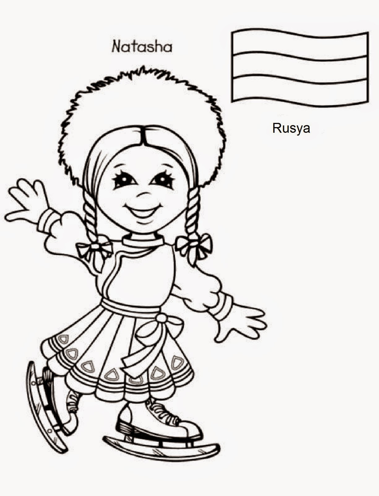 23 nisan d nya ocuklar boyama sayfalar bilgi e nisi for Children of the world coloring pages
