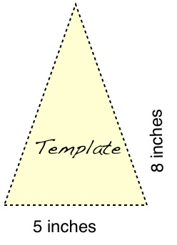 triangle template the template represented one side of my banner