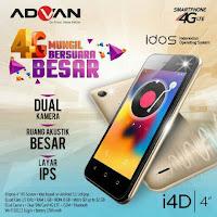 Advan i4D - HP Android 4G Dibawah 1 Juta