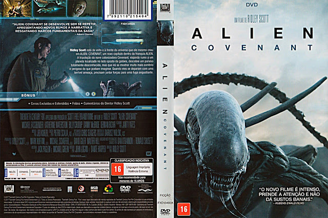 Capa DVD Alien Covenant (Oficial)