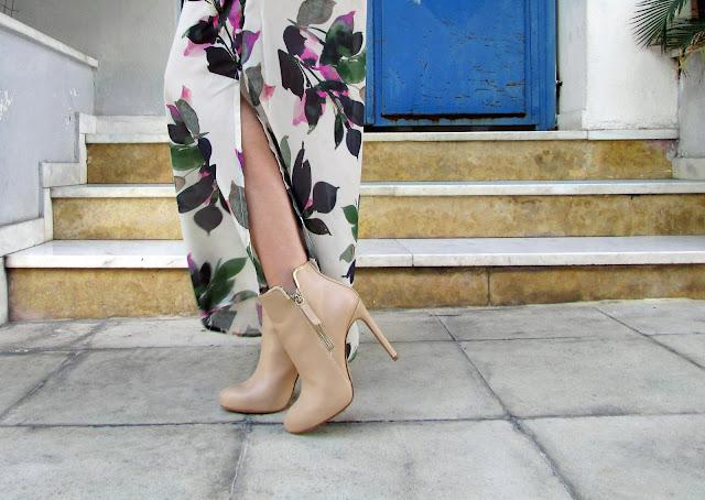 beige boots heels