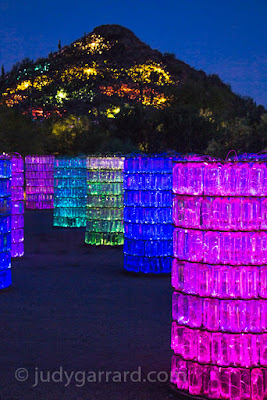 Bruce Monro Sonoran light exhibit at Desert Botanical Gardens