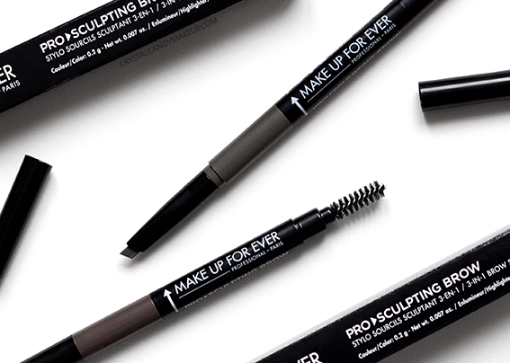 Make Up For Ever Pro Sculpting Brow Pens #40 #50 Review Photos Swatches
