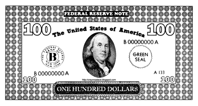 Printable Fifty and One Hundred Dollar Bills | Crayon Palace