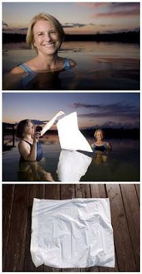 Kuva pinterestistä. Kuvassa käytetään silkkipaperia pehmentämään valoa.