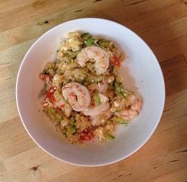 Quinoa Salad with Cucumber, Feta and Shrimp - chieffamilyofficer.com