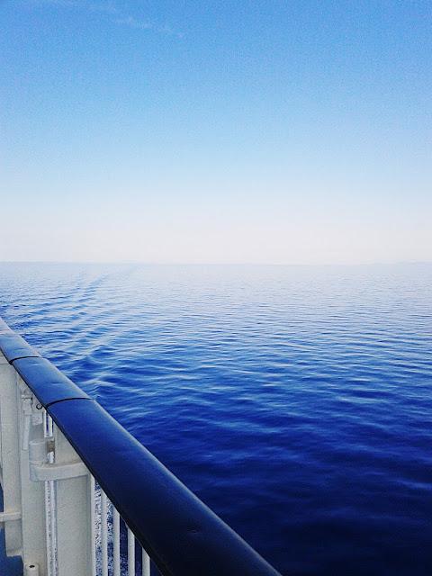 Das Mittelmeer von der Fähre aus gesehen