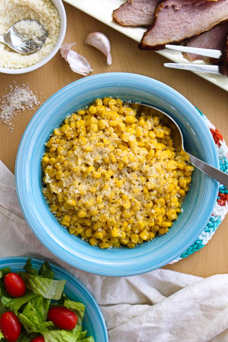 Brown Butter Parmesan Corn