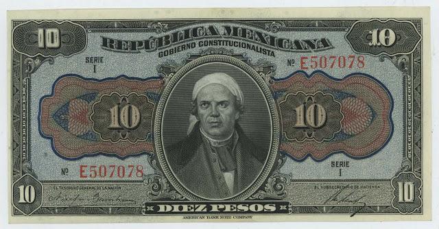 Mexico 10 Pesos banknote