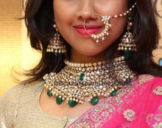 Rishita Pachi Necklace Nose Ring