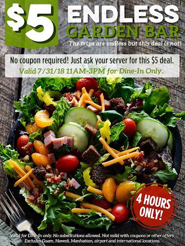 Ruby Tuesday: $5 Garden Bar Tuesday 11 3