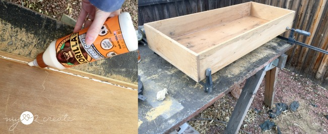 gluing and fixing up drawer