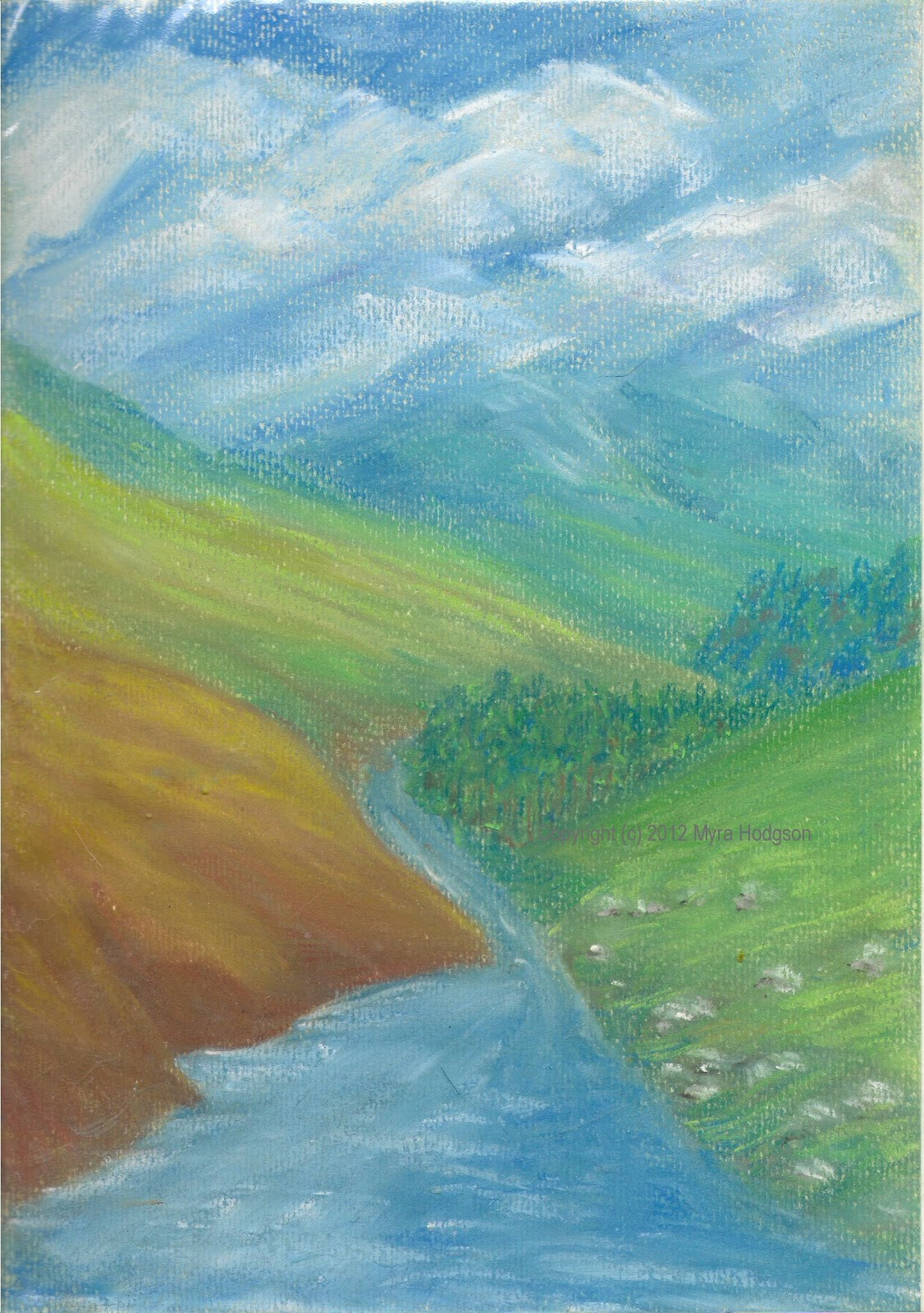 Three More Pastel Landscape Paintings