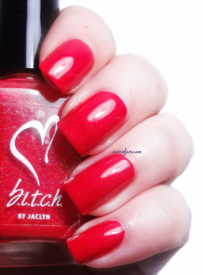 xoxoJen's swatch of b.i.t.c.h. by jaclyn Let's Makeout