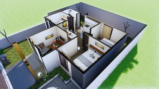 design rumah 1 lantai 3 kamar tidur