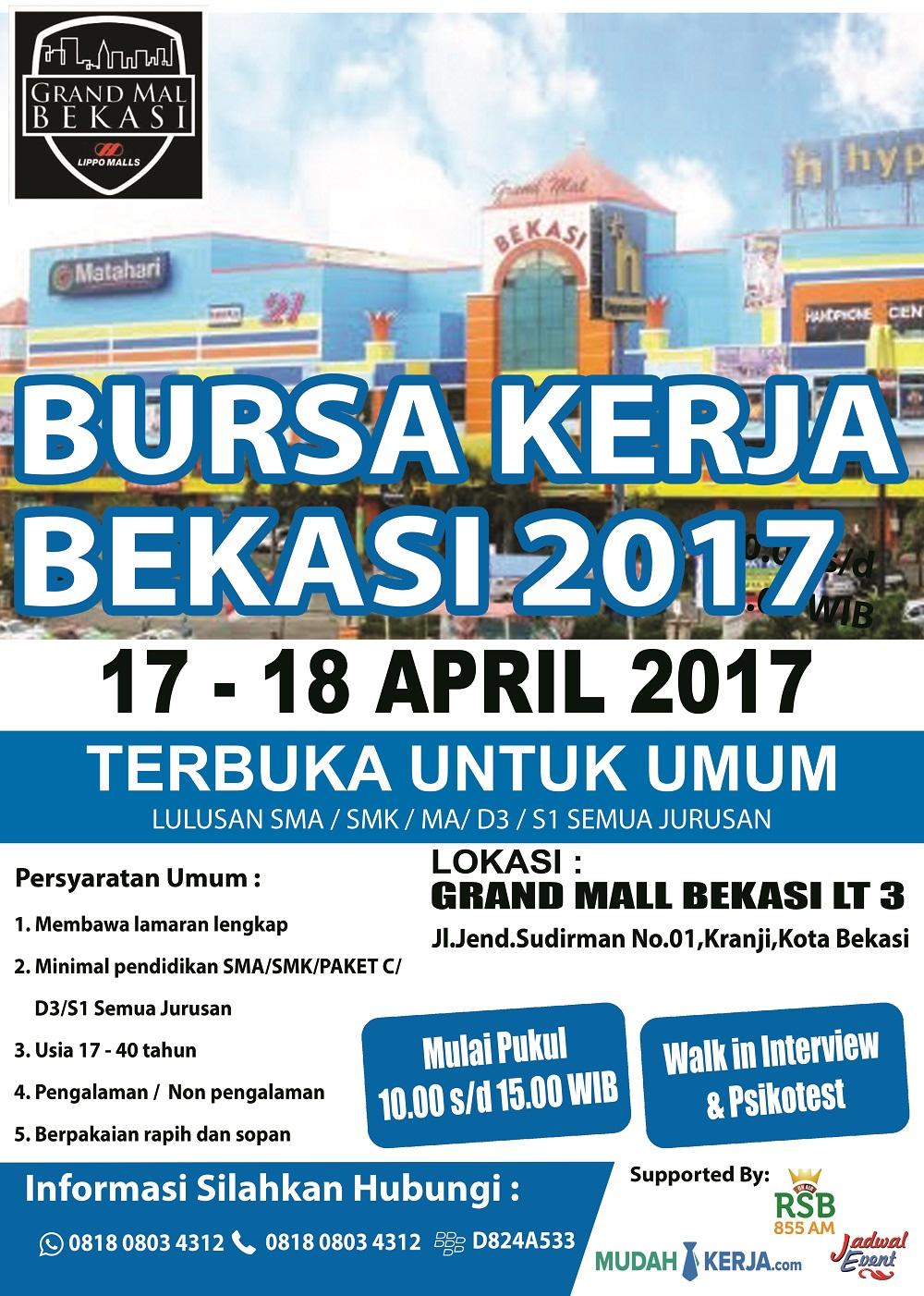 [17-18 April 2017] BURSA LOWONGAN KERJA BEKASI - Info ...