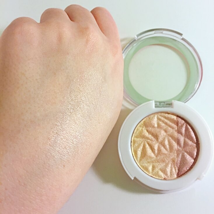 Hard Candy Just Glow Rose Gold Highlighter swatch