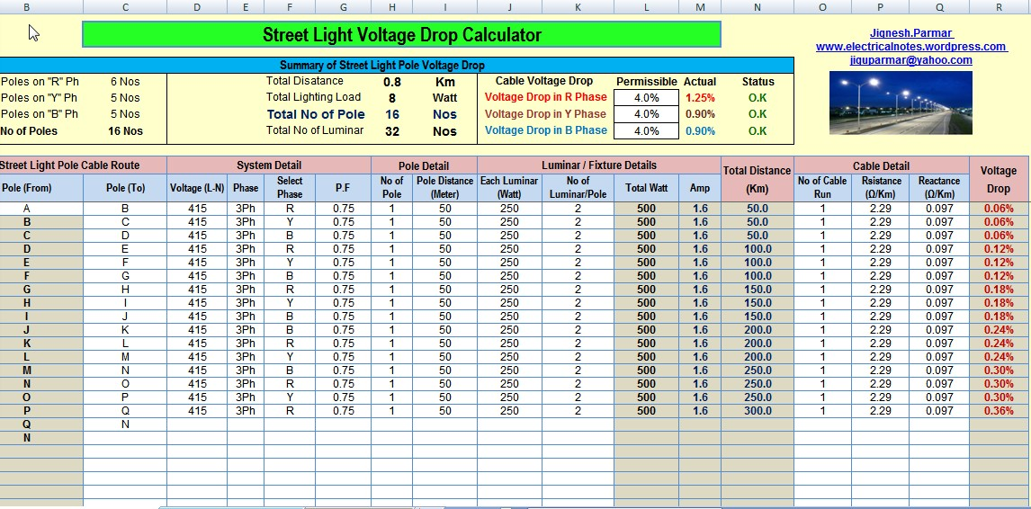 Calculation toolsexcel eia technology for volt current electrical excel tools for all electrical equipment calculation keyboard keysfo Gallery