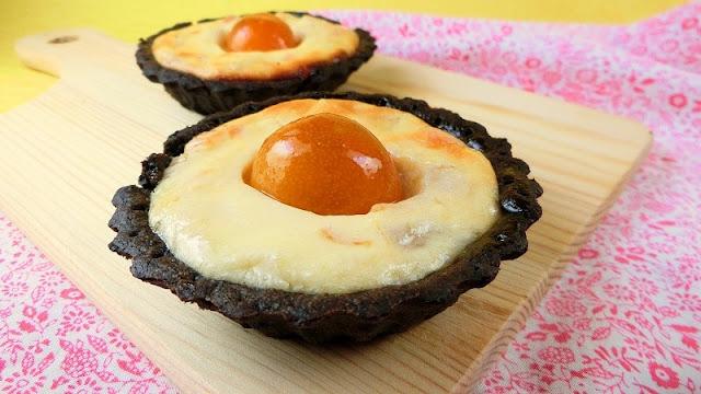トースターで焼く!金柑入りベイクドチーズブラックココアタルト