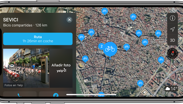 Imagen-PNG-B2F9A907BA82-1-1021x580 Apple Maps already offers information on public bicycles Technology